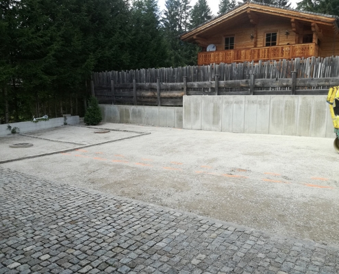 Baufirma aussenanlage zufahrt abtenau baufirma